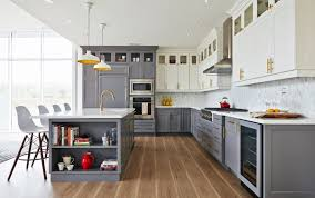 grey kitchen countertops with white cabinets your guide to cabinet and quartz countertop pairings