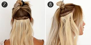 hair extension clips applying clip in hair extensions step by step blog mobilesalon com