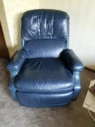 light blue recliner chair blue leather recliner dark blue leather recliner chair in light blue