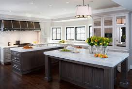 kitchen with dual islands design ideas