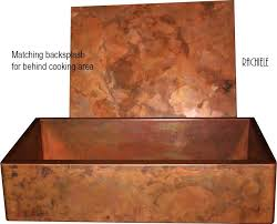 Copper Sinks With Integral Back Splashes By Rachiele - Copper backsplash