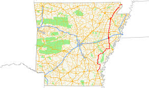 Map Of Arkansas State Parks by Arkansas Highway 1 Wikipedia