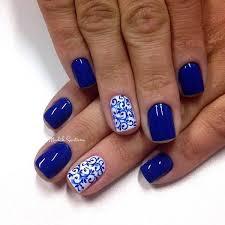 50 blue nail art designs white polish