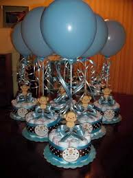 Baby Boy Shower Centerpiece by Monkey Baby Shower Diapers Centerpiece With Balloon Baby Blue Baby