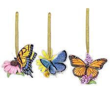 butterfly flower ornaments the danbury mint