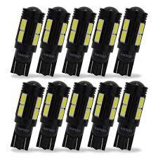 Led Car Lights Bulbs by Aliexpress Com Buy Safego 10x T10 Led White W5w 10 Smd 5630 5730