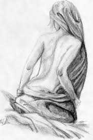 Drawing Of A Bed Woman Sitting On A Bed By Kopale On Deviantart