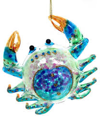 ornaments crab glass ornament style