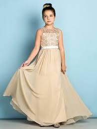 blush junior bridesmaid dresses a line scoop neck floor length chiffon lace junior bridesmaid