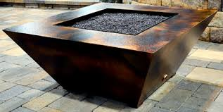 parallax square fire pit table remote controlled