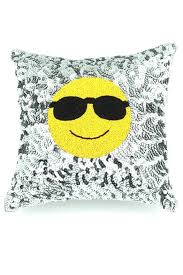 Home Decor Pillows Hipchik Emoji Sequin Pillow From New York By Hipchik Home U2014 Shoptiques