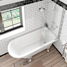 introducing the new sally and shakespeare baths shakespeare single ended bath with screen and towel rail