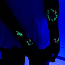fun and funky u2013 glow in the dark temporary tattoos tattify