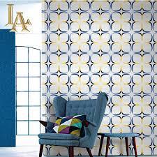 Wohnzimmer Gelb Blau Online Kaufen Großhandel Blau Gelb Tapete Aus China Blau Gelb