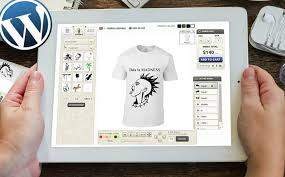 t shirt design tool for wordpress website to offer customized