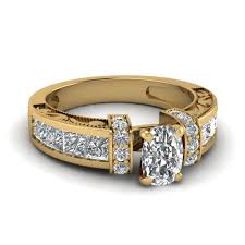 14k yellow gold round cut fascinating diamonds