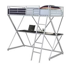 amazon com x loft bunk bed silver kitchen u0026 dining