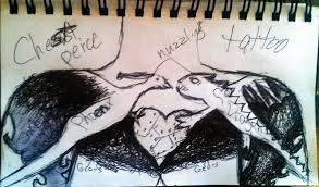 phoenix and dragon tattoo chest piece sketch by metalchick200615