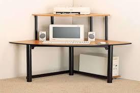 Computer Desk Design Furniture Excellent Brown Solid Wood Small Corner Computer Desk