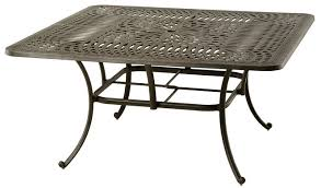 square dining table 60 mayfair by hanamint luxury cast aluminum patio furniture 60 square