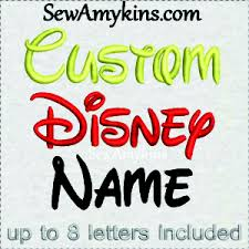 your name or word custom digitized embroidery file walt disney