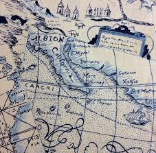 Waverly Upholstery Fabric Waverly Chart House Upholstery Antique Map 53