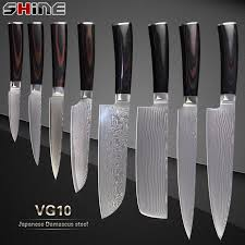 Best Steel For Kitchen Knives Xyj Professiona Japanese Damascus Knives Vg10 Damascus Steel