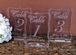 acrylic table numbers wedding acrylic wedding reception table numbers 199 by milancreations 5 00