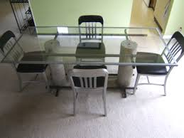 concrete designs of nashville glass steel dining table loversiq