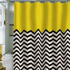 Green Chevron Shower Curtain Graphic Black White And Yellow Shower Curtain Intriguing