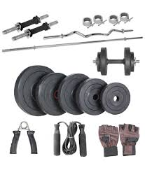 livestrong 50kg home gym combo of 14 inches dumbbell rods 1 plain