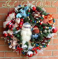 rudolph bumble snowmonster misfit toys wreath yukon cornelius
