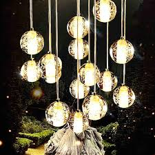 Glass Balls Chandelier Glass Ball Pendant Light With Discount 10 Heads Aluminum Wire