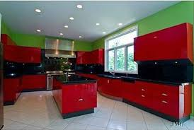 kitchen red a red green kitchen hooked on houses