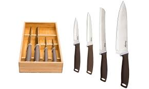 prestige kitchen knives prestige knife set with bamboo tray groupon