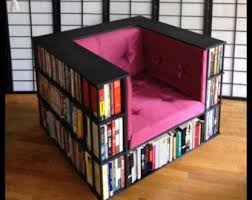 Bookshelf Seat Library Chair Luxury Club Chair Bookcase Chair Made To