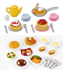 sylvanian families cuisine sylvanian families 2 play food sets together lunch set fluffy