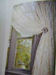 White Lace Shower Curtain With Valance by Lace Shower Curtain With Attached Valance Curtains Big W