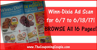 winn dixie ad scan for 6 7 to 6 13 17 browse all 16 pages