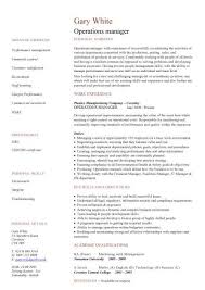Ad Operations Resume Management Cv Template Managers Jobs Director Project