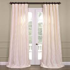 White Silk Curtains White Silk Curtains Faux Taffeta Curtain Fabric Blackout