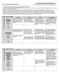 otes rubric 2016 17 accomplished only cheat sheet educational