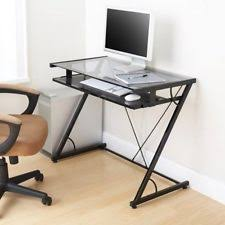 Kids Work Desk by Glass Top Desk Computer Work Tray Small Home Office Kids Study