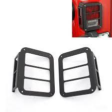 jeep wrangler brake light cover 2pcs auto black rear light l cover taillight guards for wrangler