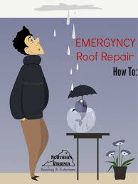 make a temporary emergency roof repair