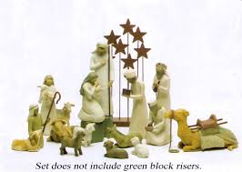 decorating willow tree nativity sets for christmas decoration ideas