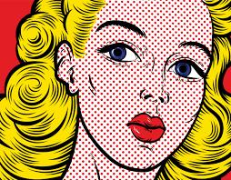 roy lichtenstein vector pop blond up illustrations 1