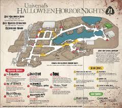 map usj 21 the thrills horror nights 21 map revealed