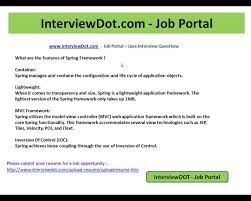 what is spring explain the features of spring framework interviewdot job portal