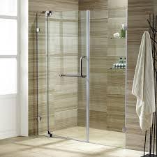 vigo pirouette 54 in x 72 in adjustable semi framed pivot shower